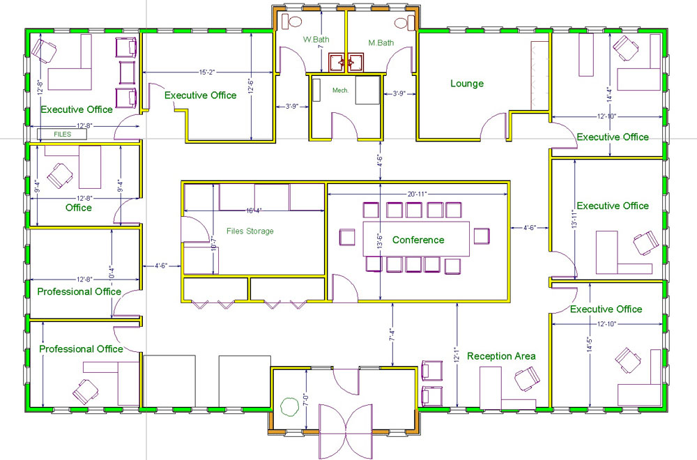 Attractive design an office space layout online 9 floor for Online office layout planner